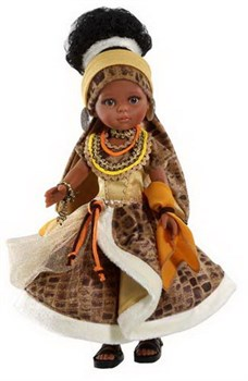 Кукла Нора африканка, 32см, Паола Рейна - фото 4758