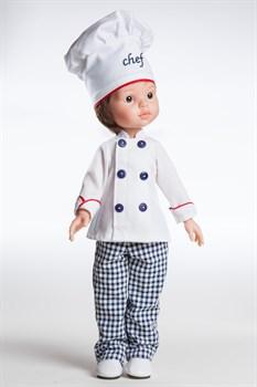 Кукла Карлос повар, 32 см, Паола Рейна - фото 4769