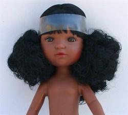 Кукла б/о, кудрявая мулатка с карими глазами, 35 см, Berjuan - фото 5744