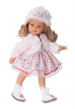 Кукла Эмили зимний образ, блондинка, 33 см, Антонио Хуан - фото 5983