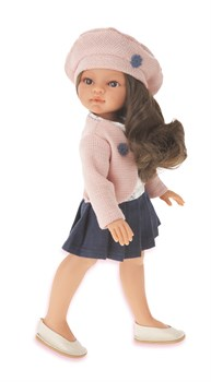 Кукла Эльвира в берете, брюнетка, 33см, Антонио Хуан - фото 5985