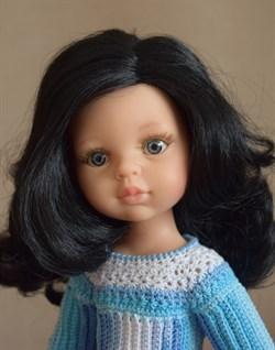 Кукла Карина б/о, 32 см (черные волнистые волосы, без челки, боковой пробор, глаза серые), Паола Рейна - фото 6523
