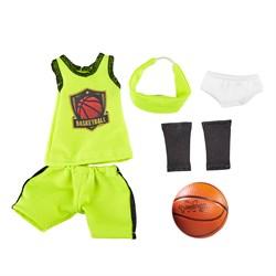 Одежда для баскетбола с аксессуарами для куклы Джой, 32 см - фото 6831