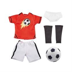 Одежда футболиста с аксессуарами для куклы Михаэль Kruselings, 23 см - фото 6833