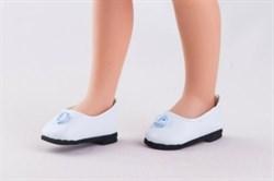 Туфли белые, с голубым цветком, для кукол 32 см, Паола Рейна - фото 7267