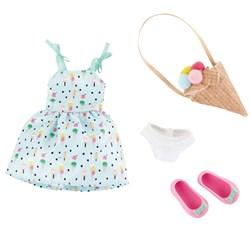 Одежда и обувь для куклы Вера Kruselings в сарафане и сумкой-мороженое, 23 см - фото 7965