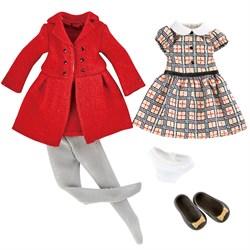 Одежда и обувь для куклы Хлоя Kruselings в красном пальто, 23 см - фото 7975