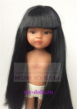 Кукла Мэйли, 32 см (светлая мулатка, глаза коричневые, волосы черные до колен, челка) - фото 8099