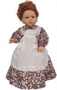 Кукла Долореc в коричнево-розовом платье, 42 см, Паола Рейна