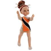 Кукла Гимнастка в оранжевом платье, 32 см, Паола Рейна