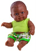 Кукла-пупс Ольмо, 22 см, мулат, Паола Рейна