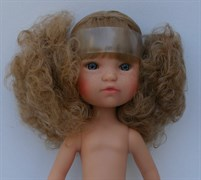 Кукла б/о, кудрявая блондинка с серо-голубыми глазами, 35 см, Berjuan