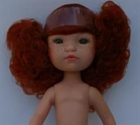 Кукла б/о, кудрявая рыжая с зелеными глазами, 35 см, Berjuan