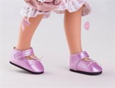 Туфли розовые с застежкой-липучкой, Паола Рейна