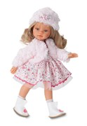Кукла Эмили зимний образ, блондинка, 33 см, Антонио Хуан