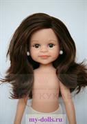 Кукла Клео б/о, 32 см (каштановые волнистые волосы, без челки, боковой пробор, глаза карие), Паола Рейна