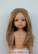 Кукла Карла б/о, 32 см (прямые волосы, без челки, синие глаза, пробор по центру), Паола Рейна