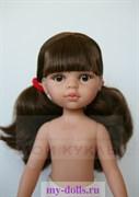 Кукла Кэрол б/о, 32 см (два хвостика, челка, глаза карие), Паола Рейна