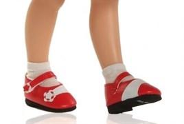 Туфли красные с цветочком для кукол 32 см, Паола Рейна