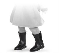 Сапоги черные с застежкой-липучкой, для кукол 42 см, Паола Рейна