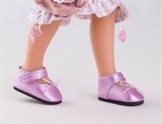 Туфли розовые с застежкой-липучкой, для кукол 32 см, Паола Рейна
