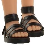 Сандали черные, для кукол 32 см, Паола Рейна