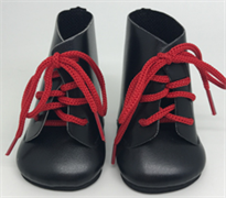 Ботинки черные с красными шнурками, для кукол 32 см, Паола Рейна