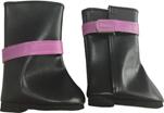 Сапоги черные с фиолетовой пряжкой, для кукол 60 см, Паола Рейна