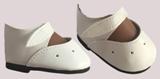 Туфли белые на липучке, для кукол 60 см, Паола Рейна