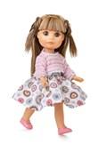 Кукла Люси, блондинка в платье с розовой кофтой, 22 см, Berjuan