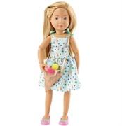 Кукла Вера Kruselings в сарафане и сумкой-мороженое, 23 см