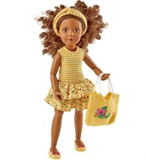 Кукла Джой Kruselings в летнем желтом наряде, 23 см