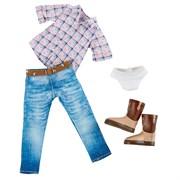 Одежда и обувь ковбоя для куклы Хлои  Kruselings, 23 см