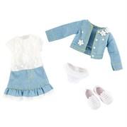 Одежда и обувь для куклы Вера Kruselings в весеннем нарядном костюме, 23 см