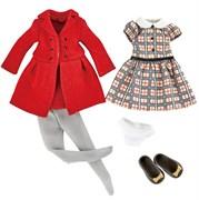 Одежда и обувь для куклы Хлоя Kruselings в красном пальто, 23 см