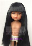 Кукла Мэйли, 32 см (светлая мулатка, глаза коричневые, волосы черные до колен, челка)