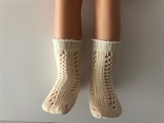 Носочки белые, ажурные для кукол 32 см, Паола Рейна