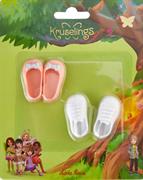 Набор обуви Kruselings (розовые туфли и белые кроссовки), 23 см