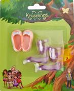 Набор обуви Kruselings (розовые туфли и фиолетовые сапоги), 23 см