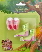 Набор обуви Kruselings (розовые кроссовоки и салатовые сапоги), 23 см