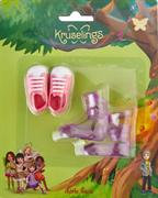 Набор обуви Kruselings (розовые кроссовоки и фиолетовые сапоги), 23 см