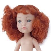Кукла Грета Фэшн б/о, кудрявая рыжая с зелеными глазами, 35 см, Berjuan