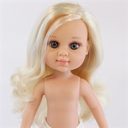 Кукла My girl (Моя девочка) блондинка с прямыми волосами, без одежды, 35 см, Berjuan