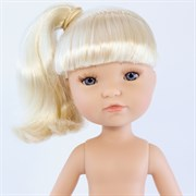 Кукла Грета б/о, платиновая блондинка с серо-голубыми глазами, 35 см, Berjuan