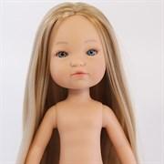 Кукла Грета б/о, рапунцель блондинка с серо-голубыми глазами, 35 см, Berjuan
