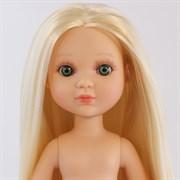 Кукла Ева б/о, рапунцель платиновая блондинка с зелеными глазами, 35 см, Berjuan
