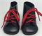Ботинки черные с красными шнурками, для кукол 32 см, Паола Рейна - фото 7328