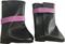 Сапоги черные с фиолетовой пряжкой, для кукол 60 см, Паола Рейна - фото 7340
