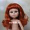 Кукла My girl (Моя девочка) рыженькая, без одежды, 35 см, Berjuan - фото 7845